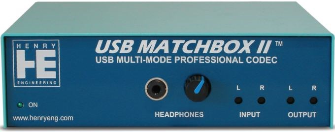 The USB Matchbox II Multi-Mode Professional Codec at Pacific Radio