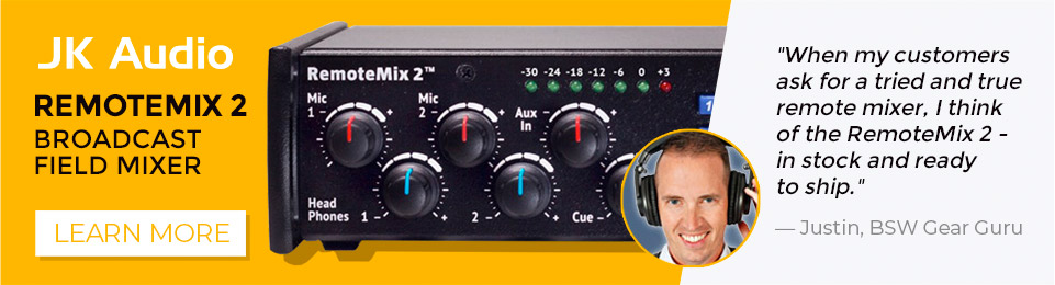 When my customers ask for a tried and true remote mixer, I think of the RemoteMix 2 - in stock and ready to ship.