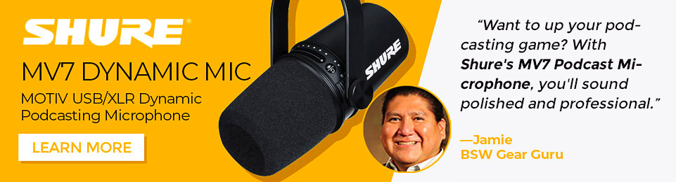 Want to up your podcasting game? With Shure's MV7 Podcast Microphone, you'll sound polished and professional.