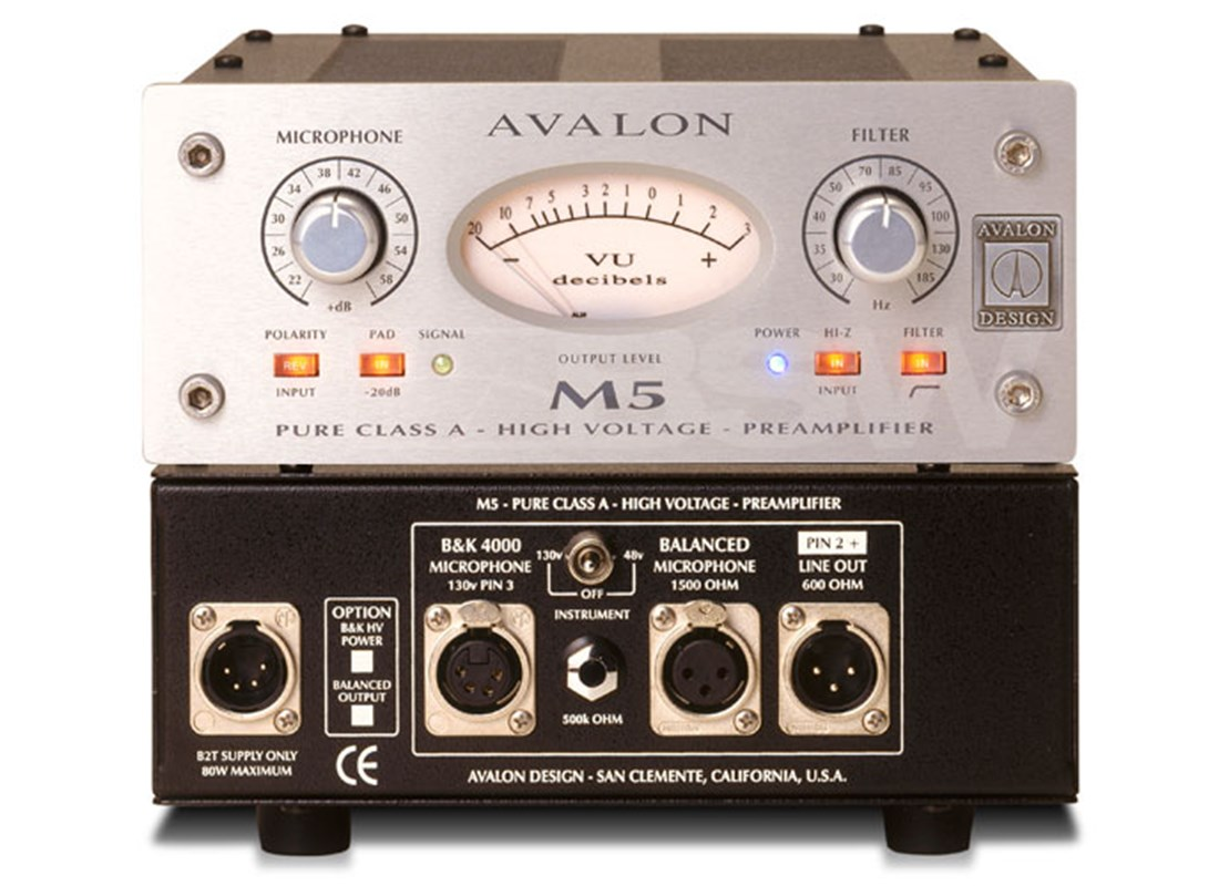 Avalon Design M5 Balanced Microphone Preamplifier Class A Mic Preamp Bsw Part