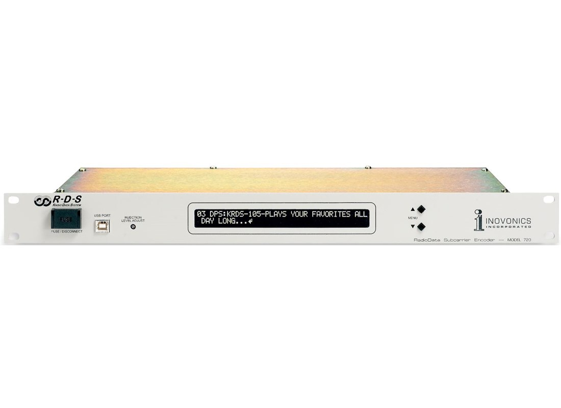Inovonics 720 Dynamic Rds Encoder Fm Broadcasting Stereo
