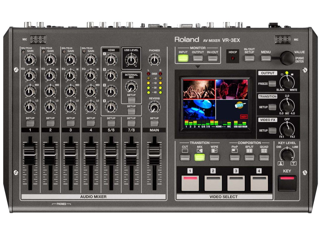Roland Vr 3ex 5 Channel Portable Audio Mixer