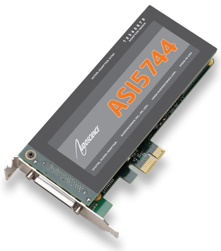 AudioScience ASI5044 AES Digital Audio Broadcast Sound Card w// Balanced Analog